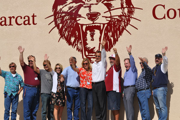 The Bearcat Spirit Wall was unveiled at Paso Robles High School on Tuesday afternoon. Photo sby Meagan Friberg