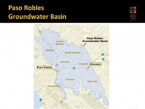 Map of Paso Robles Groundwater Basin.