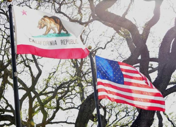 Paso Robles Boy Scout Troop 60 lifted & installed new city flags.