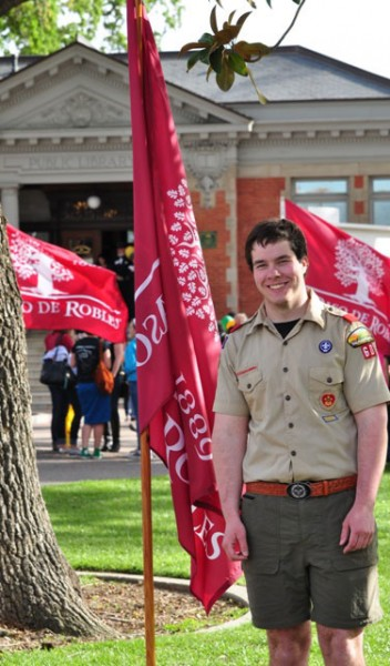 PR Troop 60 scout & PRHS senior Joseph Fairchild organized efforts for flags lining Spring St. and throughout the city park as well as the flag ceremony as part of his Eagle Scout project.