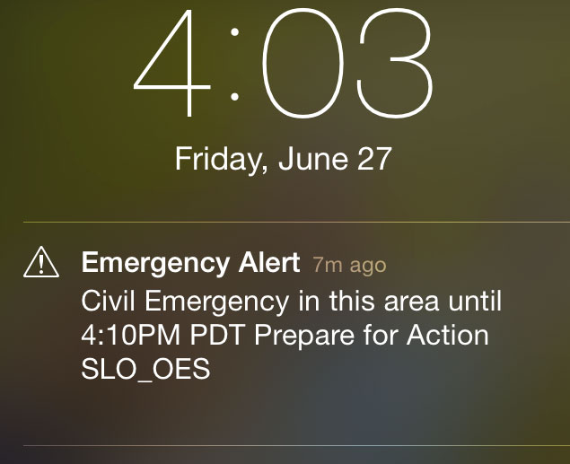 Don T Panic Civil Emergency Alert Is False Alarm Paso