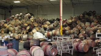 wine barrel earthquake safety