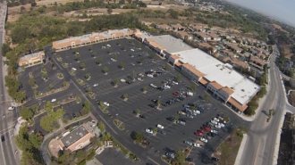 Aerial photo of the Albertson's Shopping Center