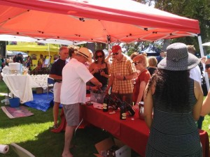 Attendees enjoy tasting wine at last year's festival. Courtesy photo.