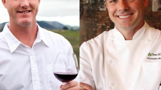 Winemaker Eric Hickey and Chef Christopher Manning