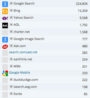 what search engine is most popular in Paso Robles