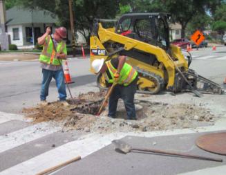 Construction activity at Spring Street increasing