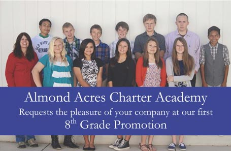 Almond Acres to host 8th grade promotion celebration June ... Almond Acres Charter