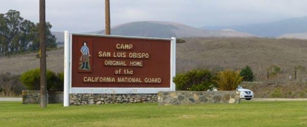 Camp San Luis Obispo sign