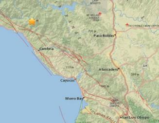 Small earthquake rattles San Simeon early Friday morning