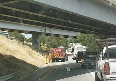 fire on highway 101