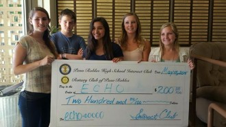 Left to right:  Mimi Rodriguez from ECHO, Jesse Palmer, Kaitlin Covarrubias, Alissa King and Tatum Van Horn, Paso Robles High School Interact Club. Courtesy photo.
