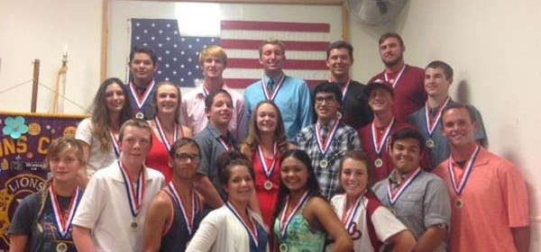 Front Row (L to R): Nicole Landon (Varsity Diving), Joshua Warren (JV Boys Golf), Matthew Trout (JV Boys Tennis), Emmaline Voorheis (JV Girls Swimming), Cecilia Ramirez (Varsity Girls Swimming), Nichole Raithel (Varsity Softball), Sebastian Ouellette (Varsity Boys Tennis), Zachary Smith (Varsity Boys Golf) Middle Row: Gwen Lundy (Varsity Girls Track & Field), Cara Jones (JV Girls Track & Field), Ryland Patti (JV Boys Track & Field), Hannah Holmes (JV Softball), Matthew Rosas (JV Boys Volleyball), Jeffrey Snowbarger (JV Baseball), Riley Rookus (Varsity Boys Volleyball), Top Row: Jacob Espinoza (Freshman Baseball) Ty Jones (Varsity Boys Track & Field), Grant Scheiffele (Varsity Boys Swimming), Brennen Jokel (JV Boys Swimming), Jonathon Baldwin (Varsity Baseball). Courtesy photo.