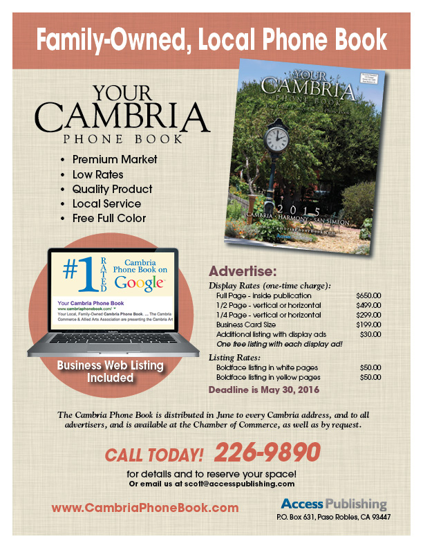 advertise in Cambria