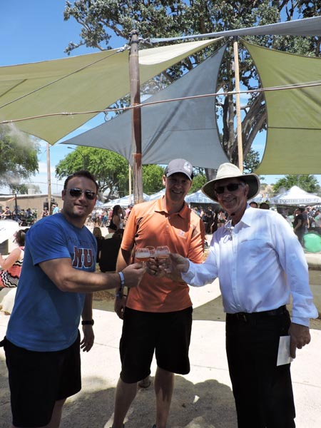 Councilman Steve Gregory was in attendance, posing here with his two friends Craig Bonelli Jr. and Steve Kroener of Silver Horse Winery and Krobar distillery.
