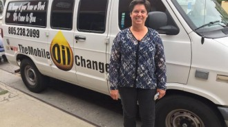 Lisa Marrone, owner of The Mobile Oil Changers, is building the Foundation for Natural Disaster Relief, based in Paso Robles.    Photo by Paula McCambridge.