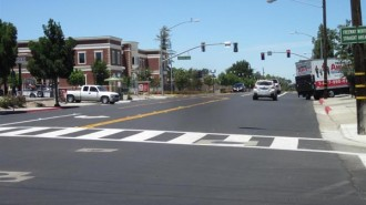 The recently completed Spring Street improvements.