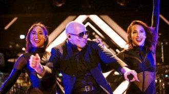 Pitbull performing at the Mid-State Fair. Courtesy photos.