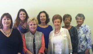 Lisa Fraser, Executive Director for Center for Family Strengthening and Heather Muran, Ynana Zovich, Sharon Baldridge, Beverly Thompson, Jean Harper, and Carolyn Anderson of the S.A.V.E. agency. Courtesy photo.