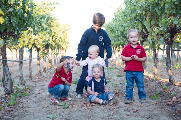 The fifth Glunz generation hard at work in the vineyards of Paso Robles.