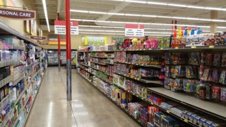 Grocery outlet interior