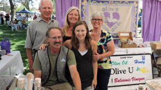 Of Cholame based Olive U: Bud Chase, Bonnie Chase, Peggy Chase, Doug Chase and Whittney Jackson.