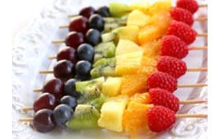 Rainbow snacks healthy heroes