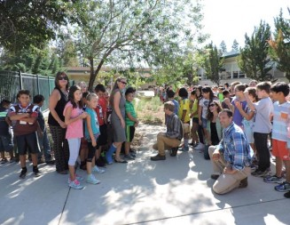 Ribbon cutting ceremony held at Georgia Brown's new student garden