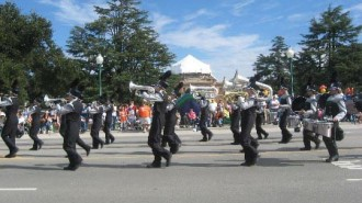 Templeton High School Marching Band performing at Colony Days.