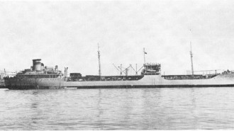 USNS Mission San Miguel  was a member of the Mission Buenaventura-class oiler and was named for Mission San Miguel Arcángel, located in San Miguel, California. Pictured here is the USNS Mission Buenaventura, a member of the same class as the ship discovered.