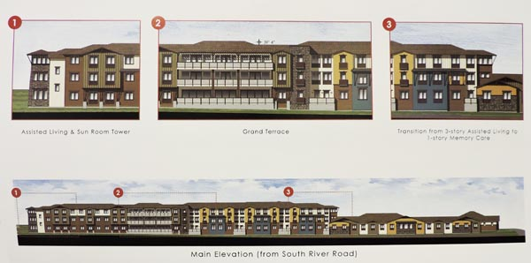 Artist rendering assisted living