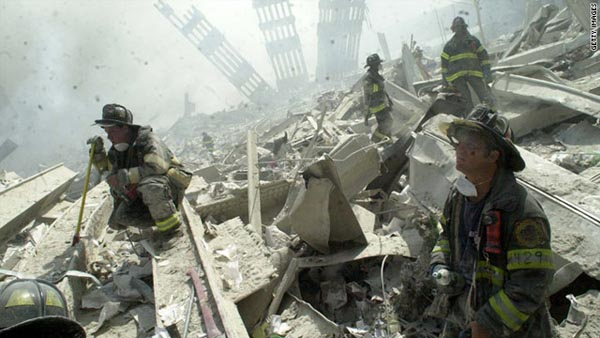 The stair climb is designed to honor those who died in service during the aftermath of the 9/11 attacks. Photo from CNN,