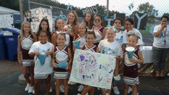cheer squad rally for riley