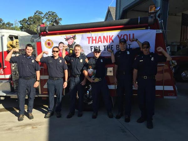 Templeton firefighters after their recent fundraising event. Courtesy photo.