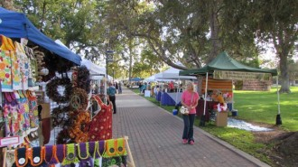 A view of some of the vendors at the 2015 Golden Oak Honey Festival in Paso Robles. Photo by Jackie Iddings.