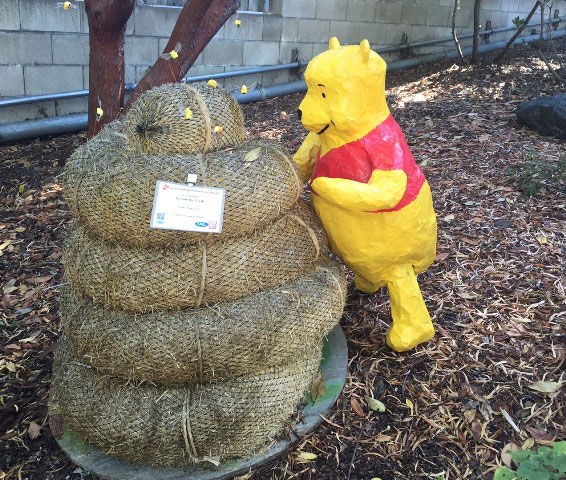 Winnie the Pooh, created by Weston Armstrong, sponsored by Cambria Nursery and Florist. Photo by Meagan Friberg