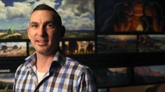Paso Robles native and Pixar Supervising Animator Mike Venturini  photographed at Pixar Animation Studios in Emeryville, Calif. (Photo by Deborah Coleman / Pixar)
