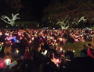 Thousands gather for holiday lighting ceremony