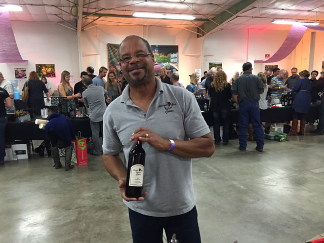 Winemaker Michael Jones of Michael Rose Cellars.