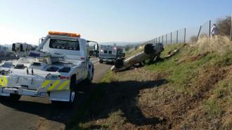 Man rolls car on highway 101