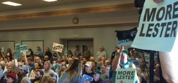 The commissioners heard more than six hours of public testimony overwhelmingly in support of Lester at the meeting.