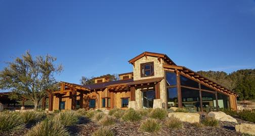 exterior new tasting room halter ranch