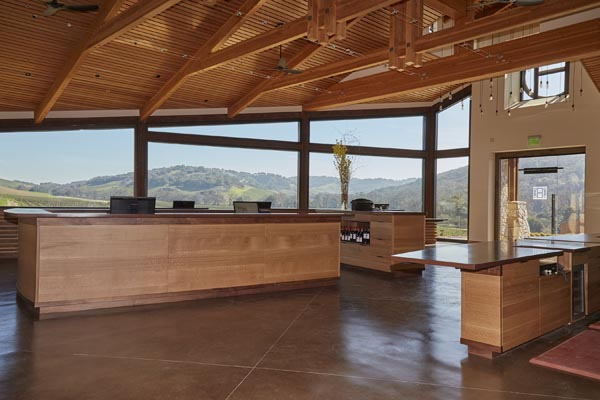 interior new halter ranch tasting room