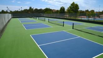 Pickleball courts at Centennial Park.