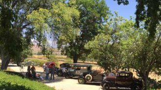 Rios-Caledonia Adobe, San Miguel car show, Model As, Model Ts, classic V-8s, The Three Amigos, Villa San Juliette, Jeff Beaumont and Friends, Meagan Friberg