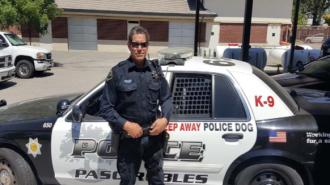Officer Hackett latest Paso Robles Police Department K9 handler.
