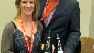 Molly Bohlman, winemaker of Niner Wine Estates with Tucker Spear, director of sales