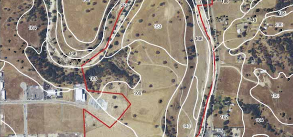 the Project is located at the eastern end of Wisteria Lane, north of State Route 46 East.