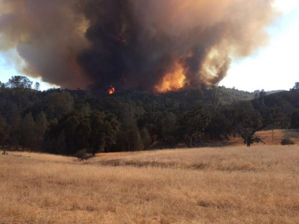 Lake community flees from wildfire in central California