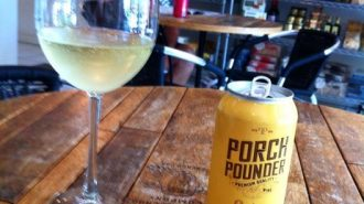 Porch Pounder Chardonnay Canned Wine
